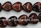 CTE52 15.5 inches 14*14mm heart red tiger eye gemstone beads