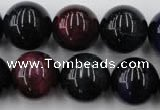 CTE597 15.5 inches 18mm round colorful tiger eye beads wholesale