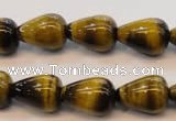 CTE608 15.5 inches 12*16mm teardrop yellow tiger eye beads wholesale