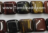 CTE63 15.5 inches 15*15mm square mixed tiger eye gemstone beads