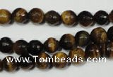 CTE752 15.5 inches 8mm faceted round yellow tiger eye beads wholesale