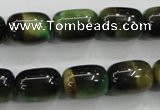 CTE80 15.5 inches 11*15mm drum green tiger eye gemstone beads