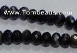 CTE940 15.5 inches 5*8mm faceted rondelle dyed blue tiger eye beads