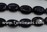 CTE951 15.5 inches 10*14mm oval dyed blue tiger eye beads wholesale