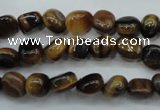 CTE96 15.5 inches 6*9mm nuggets yellow tiger eye beads wholesale