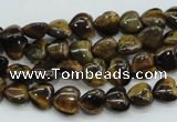 CTE97 15.5 inches 8*8mm heart yellow tiger eye beads wholesale