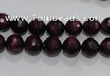 CTE971 15.5 inches 6mm faceted round dyed red tiger eye beads