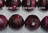 CTE978 15.5 inches 20mm faceted round dyed red tiger eye beads