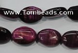 CTE995 15.5 inches 13*18mm oval dyed red tiger eye beads wholesale