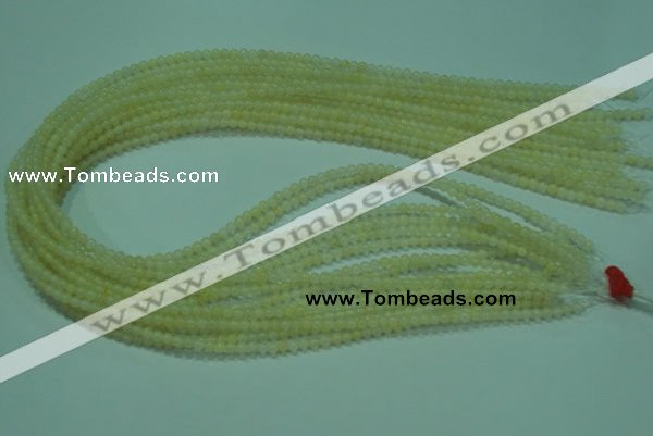 CTG05 15.5 inches 3mm round tiny yellow jade beads wholesale