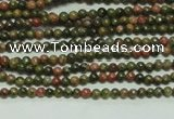 CTG104 15.5 inches 2mm round tiny unakite gemstone beads wholesale