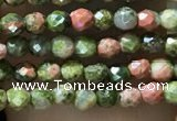 CTG1060 15.5 inches 2mm faceted round tiny unakite gemstone beads