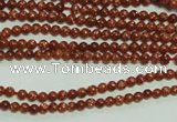 CTG112 15.5 inches 2mm round tiny goldstone beads wholesale