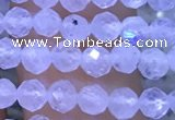 CTG1131 15.5 inches 3mm faceted round tiny white moonstone beads