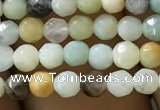 CTG1167 15.5 inches 3mm faceted round tiny amazonite beads