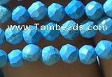 CTG1175 15.5 inches 3mm faceted round tiny turquoise beads