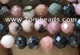 CTG1189 15.5 inches 3mm faceted round rhodonite gemstone beads