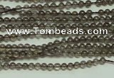 CTG120 15.5 inches 2mm round tiny smoky quartz beads wholesale