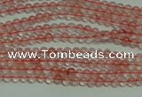 CTG124 15.5 inches 2mm round tiny cherry quartz beads wholesale
