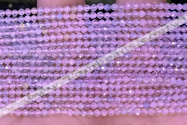 CTG1300 15.5 inches 2mm faceted round morganite gemstone beads