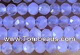 CTG1303 15.5 inches 2mm faceted round blue lace agate beads wholesale