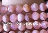 CTG1322 15.5 inches 3mm faceted round rhodochrosite beads wholesale