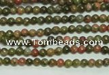 CTG134 15.5 inches 3mm round tiny unakite gemstone beads wholesale
