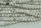 CTG135 15.5 inches 3mm round tiny white turquoise beads wholesale