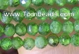 CTG1381 15.5 inches 2mm faceted round tiny diopside quartz beads