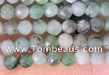 CTG1387 15.5 inches 2mm faceted round tiny emerald beads