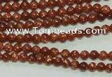 CTG142 15.5 inches 3mm round tiny goldstone beads wholesale