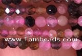CTG1436 15.5 inches 2mm faceted round tourmaline beads wholesale