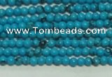 CTG144 15.5 inches 3mm round tiny blue turquoise beads wholesale