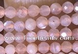 CTG1453 15.5 inches 2mm faceted round moonstone beads wholesale