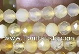 CTG1491 15.5 inches 3mm faceted round yellow opal beads wholesale