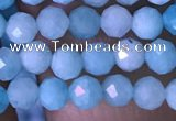 CTG1495 15.5 inches 3mm faceted round amazonite beads wholesale
