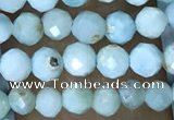 CTG1496 15.5 inches 3mm faceted round larimar gemstone beads
