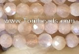 CTG1502 15.5 inches 3mm faceted round moonstone beads wholesale