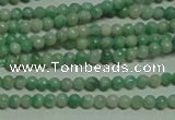 CTG155 15.5 inches 3mm round tiny Qinghai jade beads wholesale