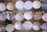 CTG1550 15.5 inches 4mm faceted round moonstone beads wholesale