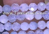 CTG1604 15.5 inches 3.5mm faceted round tiny aquamarine beads