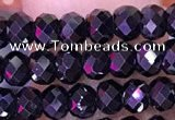 CTG1668 15.5 inches 2.5*4mm faceted rondelle tiny blue spinel beads