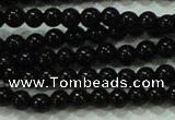CTG17 15.5 inches 2mm round A grade tiny black agate beads