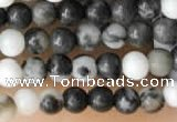 CTG2026 15 inches 2mm,3mm black & white jasper beads