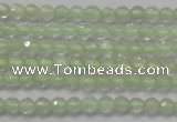 CTG204 15.5 inches 3mm faceted round tiny prehnite gemstone beads