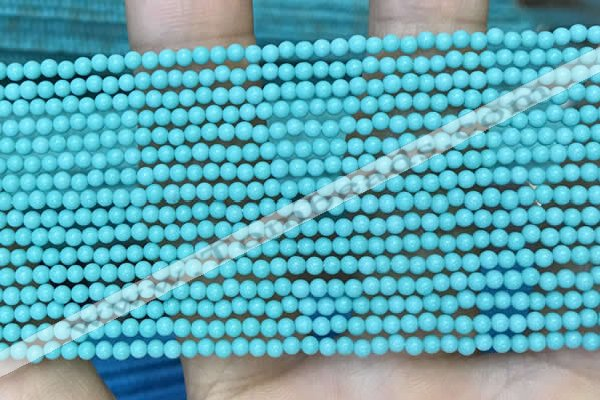 CTG2082 15 inches 2mm,3mm synthetic turquoise gemstone beads
