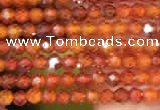 CTG2100 15 inches 2mm faceted round tiny quartz glass beads