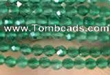 CTG2122 15 inches 2mm,3mm faceted round green agate gemstone beads