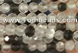 CTG2256 15 inches 2mm faceted round ghost crystal beads