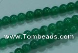 CTG23 15.5 inches 3mm round tiny green agate beads wholesale